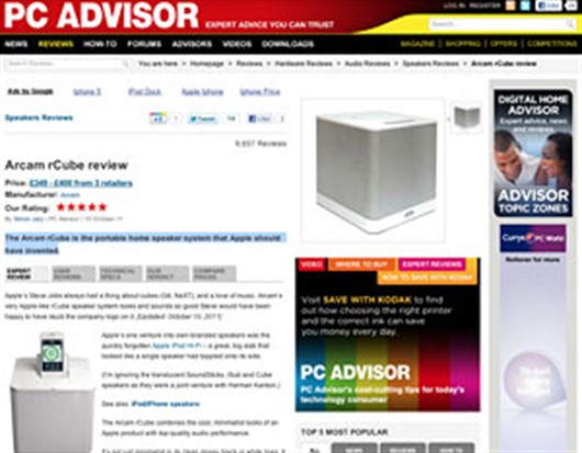 Sensational rCube Review By PC Advisor