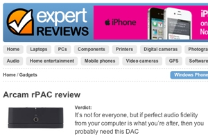 Expert Reviews give rPAC the Ultimate accolade