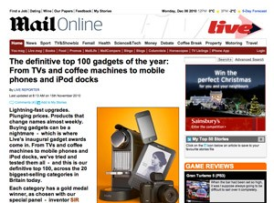 rCube and Solo Mini win Daily Mail Gadget Awards