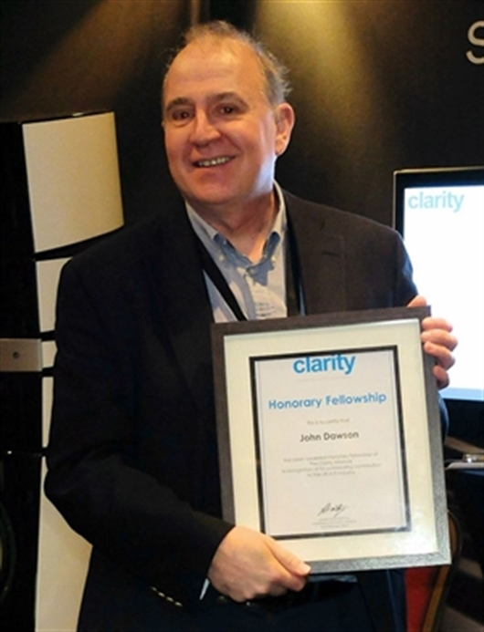 John Dawson receives Honorary Fellowship to the Clarity Alliance