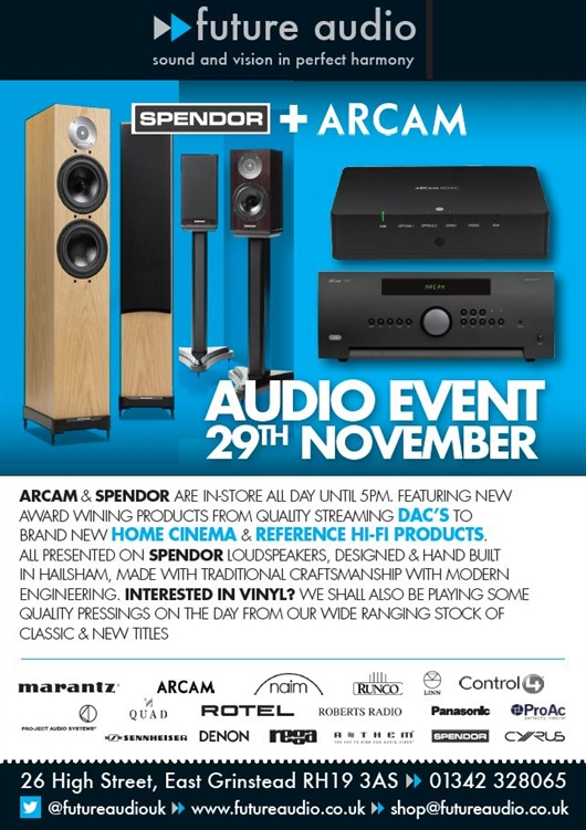 Future Audio East Grinstead Audio Event, 29th November