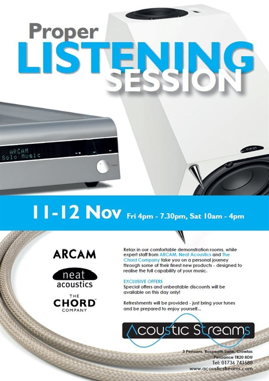 Acoustic Streams Event, 11th & 12th November
