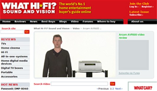 What Hifi review AVR600 in print and online